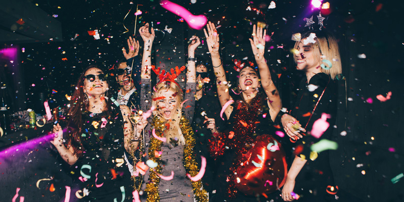 Party with Dancing and Confetti