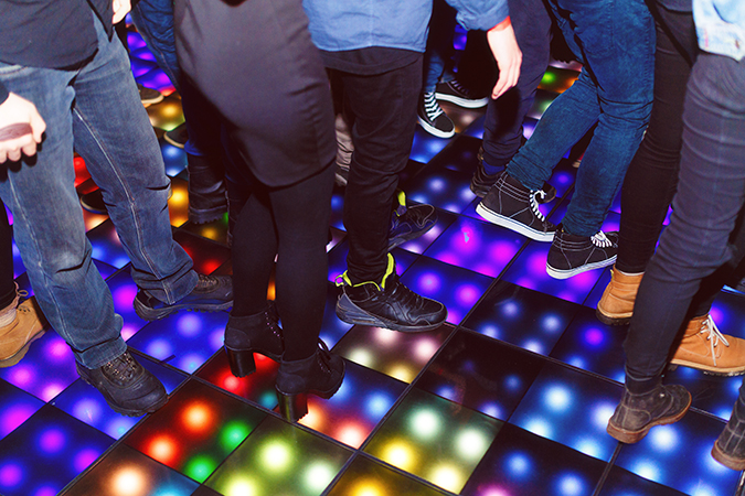Dancing On Light Up Floor